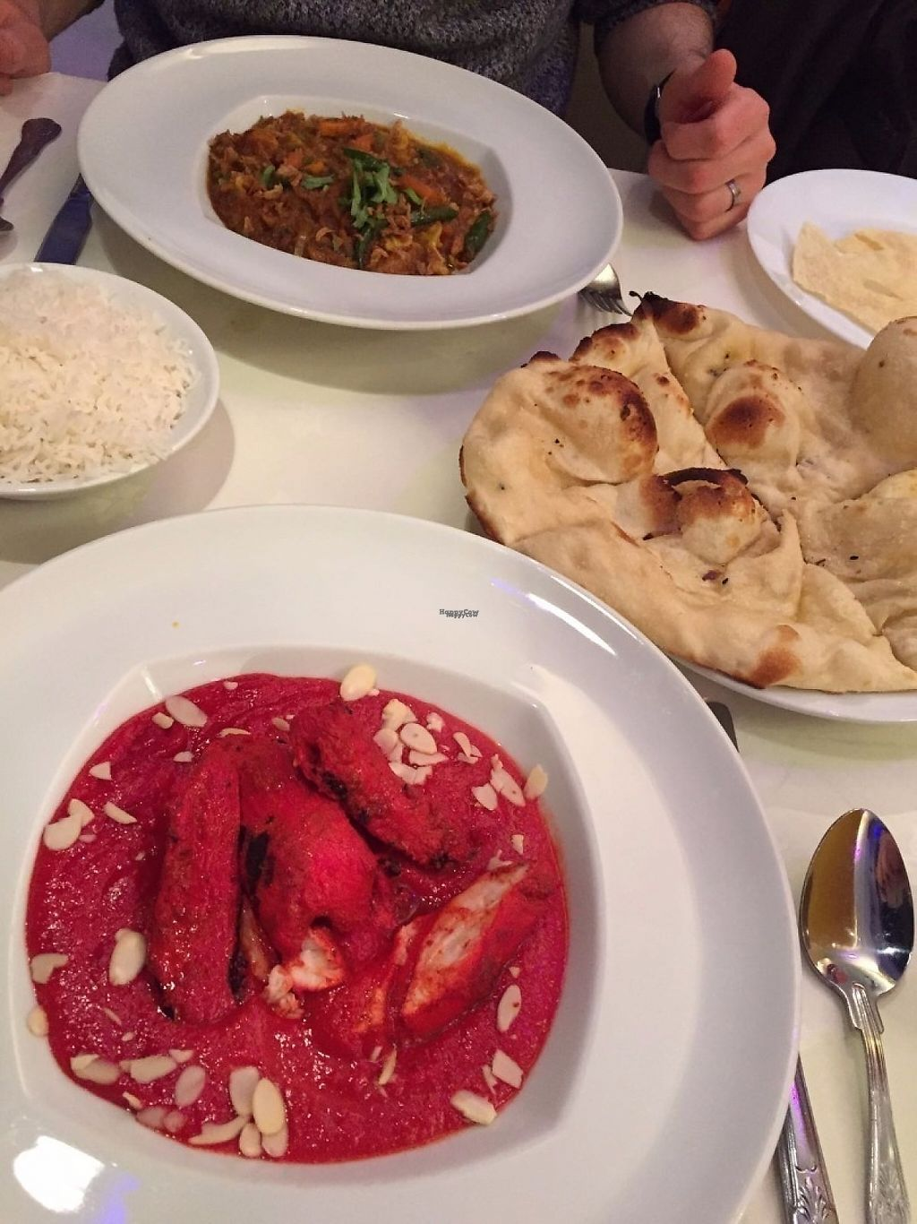 """Photo of Jadoo  by <a href=""""/members/profile/RossChambers"""">RossChambers</a> <br/>Vegetable Jalfrezi and a chicken tikka masala <br/> March 19, 2017  - <a href='/contact/abuse/image/60080/238243'>Report</a>"""