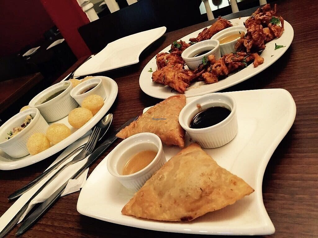 """Photo of Singh's  by <a href=""""/members/profile/TARAMCDONALD"""">TARAMCDONALD</a> <br/>Starters 100% vegan <br/> July 22, 2017  - <a href='/contact/abuse/image/60091/283395'>Report</a>"""
