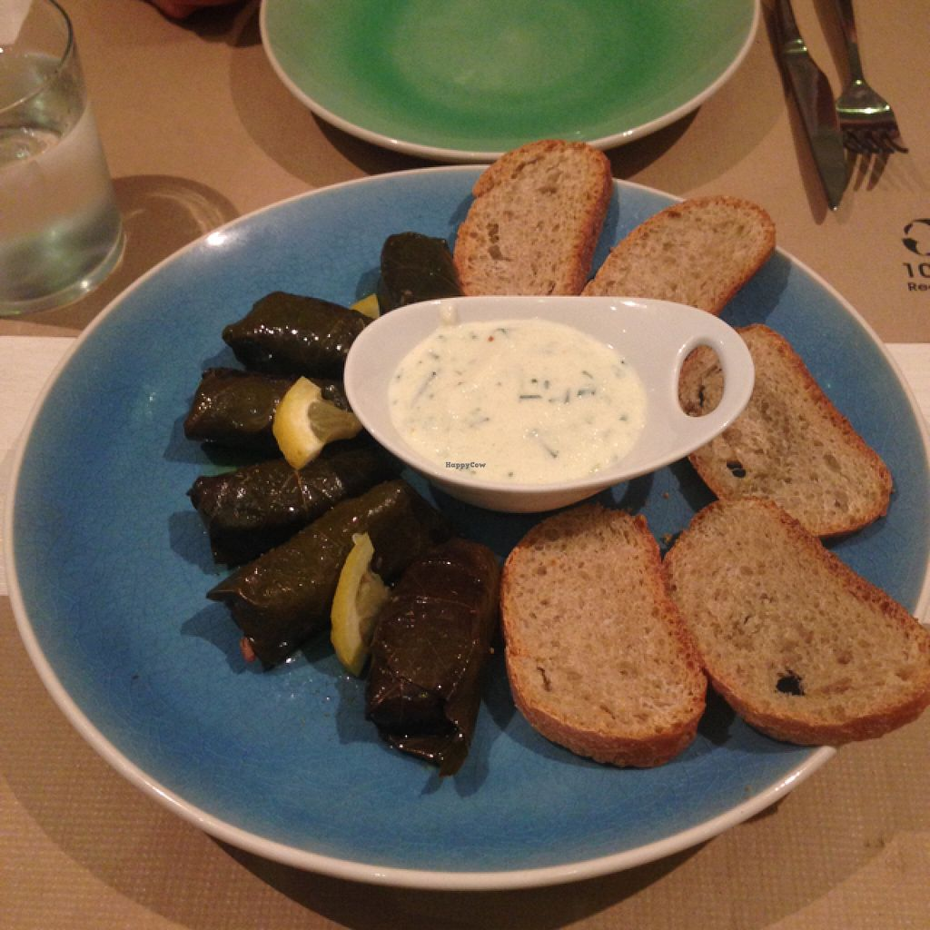 """Photo of Armonia  by <a href=""""/members/profile/JamesSturt"""">JamesSturt</a> <br/>delicious wine leaf parcels and soya tzatziki  <br/> August 13, 2015  - <a href='/contact/abuse/image/60120/113400'>Report</a>"""