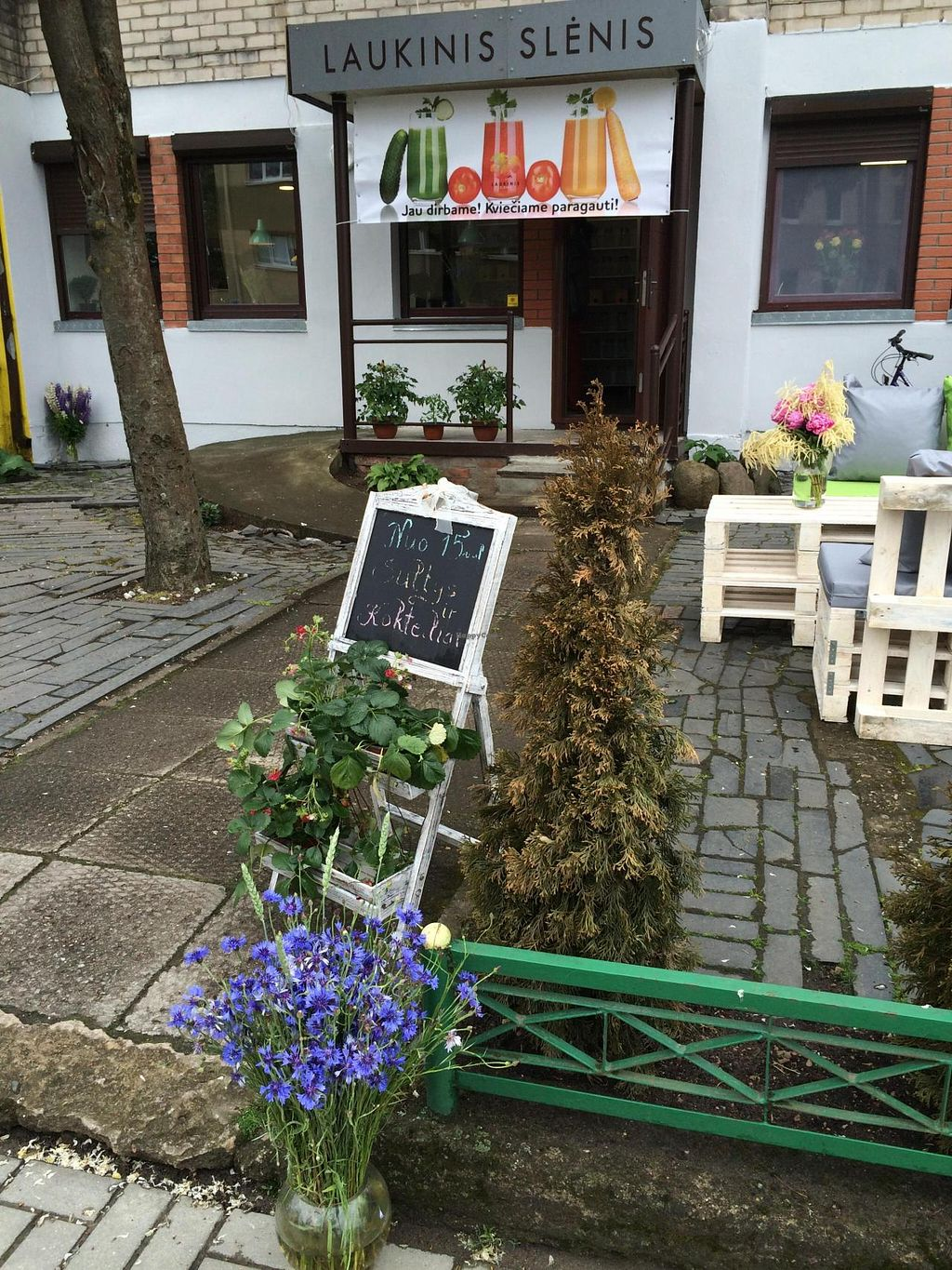 Photo of Laukinis Slenis  by Laukinis_slenis <br/>We are vegetarian and almost raw vegan cafe-bar :) We making smoothies, juices, salad, raw deserts and have healthy food shop <br/> July 5, 2015  - <a href='/contact/abuse/image/60132/108297'>Report</a>