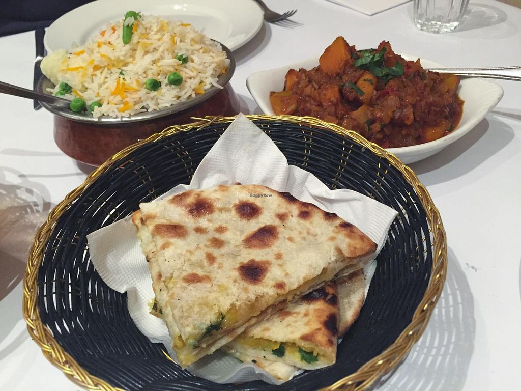 "Photo of Machan Indian Restaurant  by <a href=""/members/profile/karlaess"">karlaess</a> <br/>Vegetable Pulao,  Aloo Paratha and Pumpkin Masala <br/> July 2, 2015  - <a href='/contact/abuse/image/60136/107904'>Report</a>"