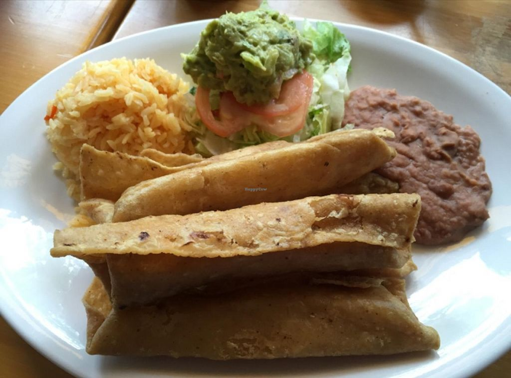 """Photo of CLOSED: Quesadilla La Reina Del Sur - Rogers Park  by <a href=""""/members/profile/happycowgirl"""">happycowgirl</a> <br/>vegan flautas <br/> July 16, 2015  - <a href='/contact/abuse/image/60142/109560'>Report</a>"""