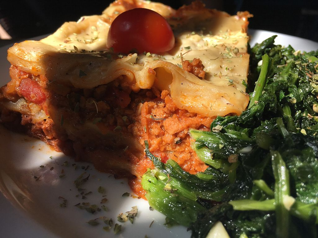"""Photo of Cantina LX  by <a href=""""/members/profile/hack_man"""">hack_man</a> <br/>Vegan lasagne  <br/> September 10, 2017  - <a href='/contact/abuse/image/60184/302944'>Report</a>"""
