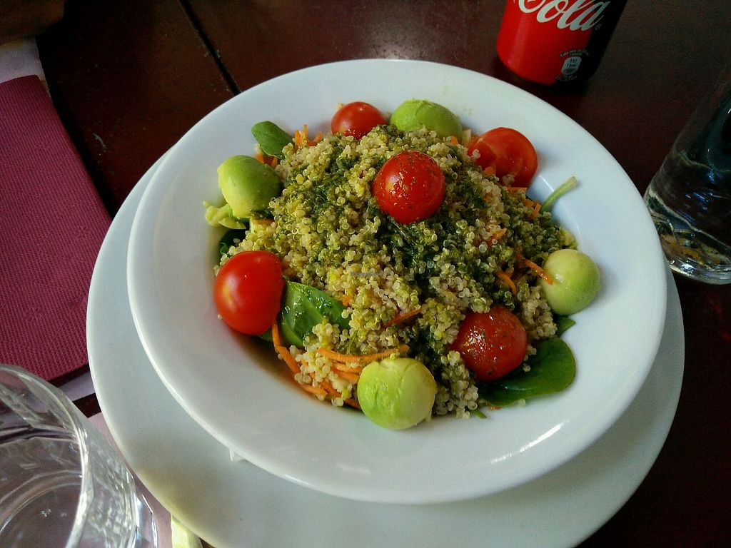 """Photo of Cantina LX  by <a href=""""/members/profile/martinicontomate"""">martinicontomate</a> <br/>salad with cuscus, avocado, tomatoes <br/> May 14, 2018  - <a href='/contact/abuse/image/60184/399801'>Report</a>"""