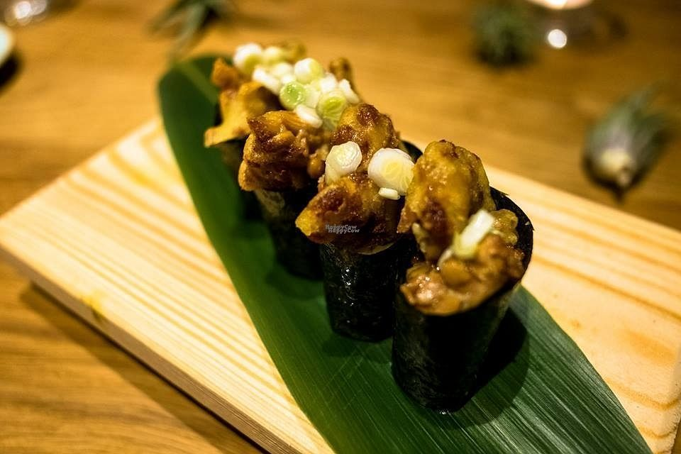 """Photo of Youmiko Sushi  by <a href=""""/members/profile/Meaks"""">Meaks</a> <br/>Vegan Sushi <br/> September 17, 2016  - <a href='/contact/abuse/image/60186/176322'>Report</a>"""