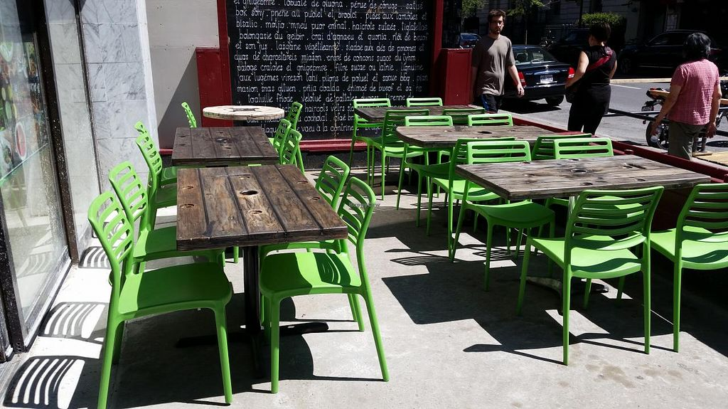 """Photo of Panthere Verte - St. Denis  by <a href=""""/members/profile/La%20Panthere%20Verte"""">La Panthere Verte</a> <br/>The Green Panther terrace on St-Denis street is a place where you can meet your friends, have a drink, have fun and enjoy the sun! <br/> July 6, 2015  - <a href='/contact/abuse/image/60187/108300'>Report</a>"""