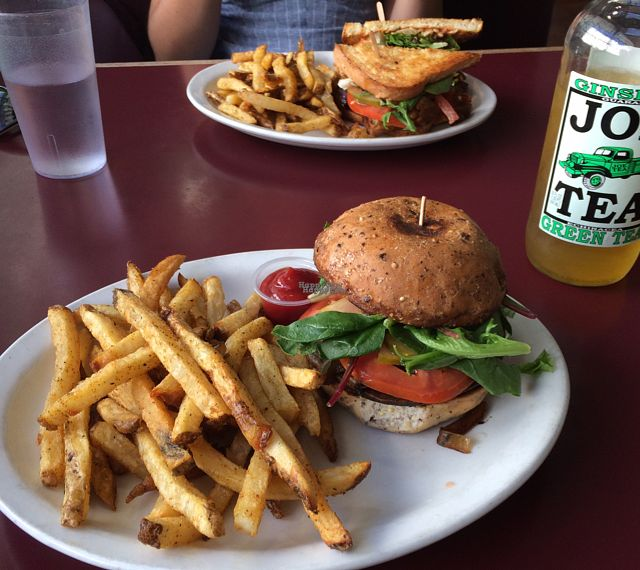 """Photo of Veg in a Box - food truck  by <a href=""""/members/profile/Philearny"""">Philearny</a> <br/>Mushroom Burger  <br/> September 24, 2016  - <a href='/contact/abuse/image/60195/177683'>Report</a>"""