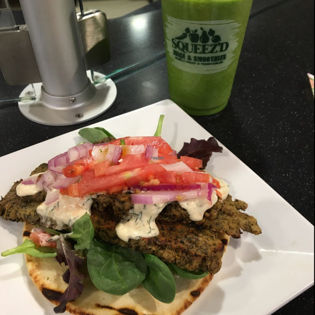 """Photo of CLOSED: Veg'd  by <a href=""""/members/profile/kevcoon83"""">kevcoon83</a> <br/>vegan gyro and Super Kale Fruit smoothie <br/> August 3, 2016  - <a href='/contact/abuse/image/60208/165134'>Report</a>"""