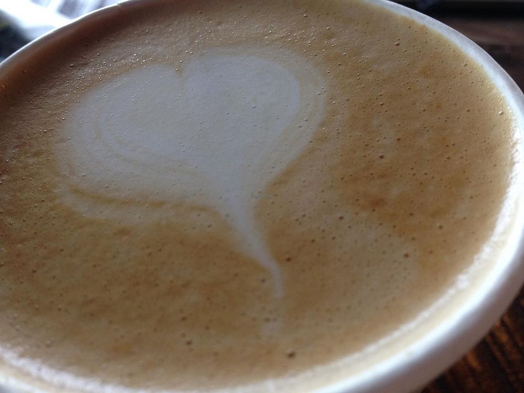 """Photo of Veloville USA  by <a href=""""/members/profile/Alysoun%20Mahoney"""">Alysoun Mahoney</a> <br/>Veloville USA almond milk latte.  <br/> July 6, 2015  - <a href='/contact/abuse/image/60262/108340'>Report</a>"""