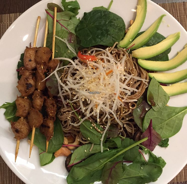 "Photo of Savory Chay  by <a href=""/members/profile/LinkaWensveen"">LinkaWensveen</a> <br/>vegan chicken skewer with teriyaki sauce <br/> October 17, 2016  - <a href='/contact/abuse/image/60286/182699'>Report</a>"