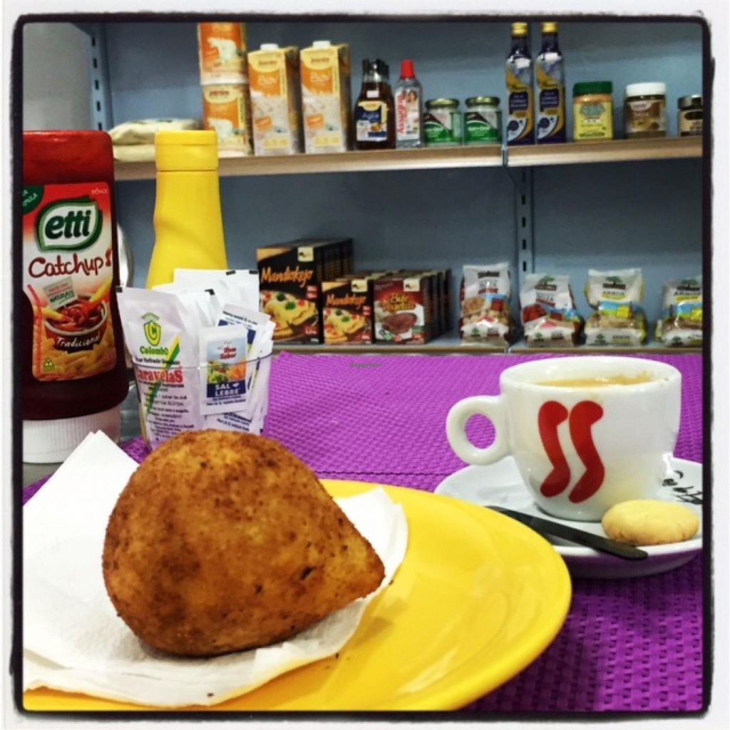 "Photo of Cantinho da Terra  by <a href=""/members/profile/AndreaVegana"">AndreaVegana</a> <br/>Coffee and coxinha vegana! <br/> July 8, 2015  - <a href='/contact/abuse/image/60291/108563'>Report</a>"