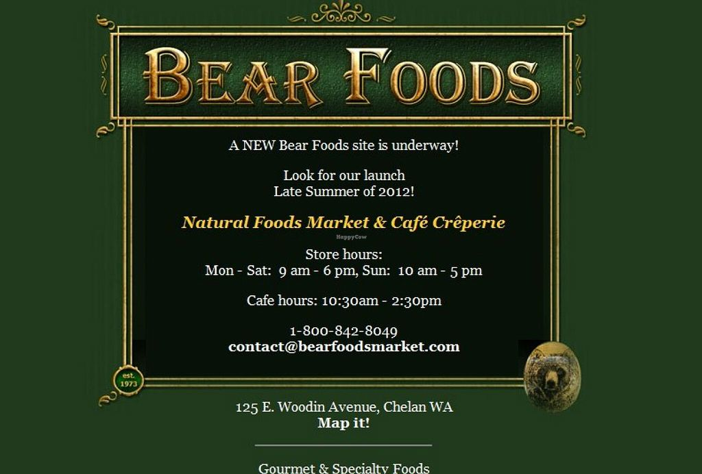 """Photo of Bear Foods Natural Food Market and Cafe  by <a href=""""/members/profile/community"""">community</a> <br/>Bear Foods Natural Food Market and Cafe <br/> July 6, 2015  - <a href='/contact/abuse/image/60296/108385'>Report</a>"""