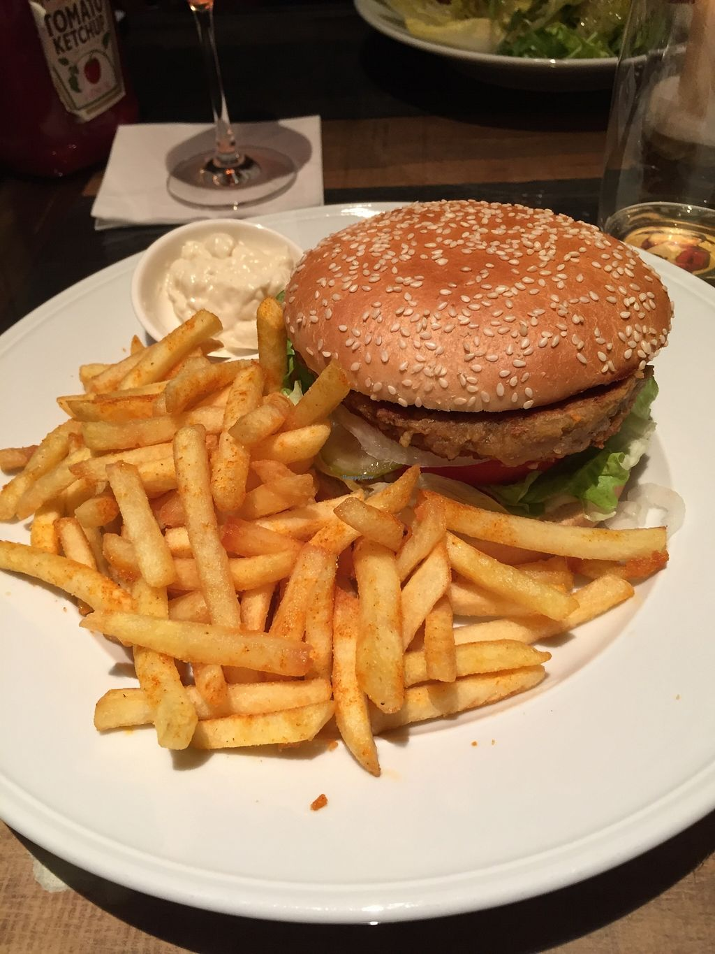 "Photo of Familienbetrieb  by <a href=""/members/profile/EmKlu"">EmKlu</a> <br/>Classic Burger with veggie/lentil patty and vegan mayo. So good!! <br/> March 22, 2016  - <a href='/contact/abuse/image/60304/140897'>Report</a>"