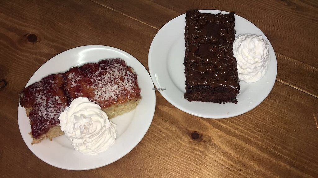 """Photo of Oh My Goodness  by <a href=""""/members/profile/AnnaClegg"""">AnnaClegg</a> <br/>raspberry coconut cake and chocolate brownie with whipped cream <br/> August 17, 2017  - <a href='/contact/abuse/image/60339/293672'>Report</a>"""