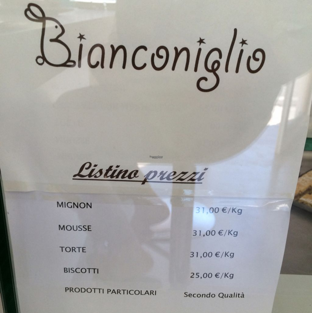 "Photo of Pasticceria Bianconiglio  by <a href=""/members/profile/amn060708"">amn060708</a> <br/>Prices per Kg <br/> August 8, 2016  - <a href='/contact/abuse/image/60351/167005'>Report</a>"