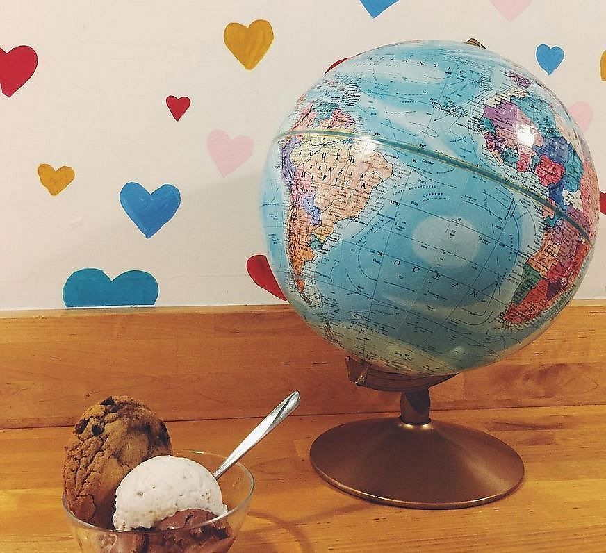 "Photo of The Cookie Counter  by <a href=""/members/profile/Stephaneen"">Stephaneen</a> <br/>Chocolate chip ice cream with one scoop of chocolate and one scoop of vanilla ice cream <br/> March 26, 2018  - <a href='/contact/abuse/image/60362/376588'>Report</a>"