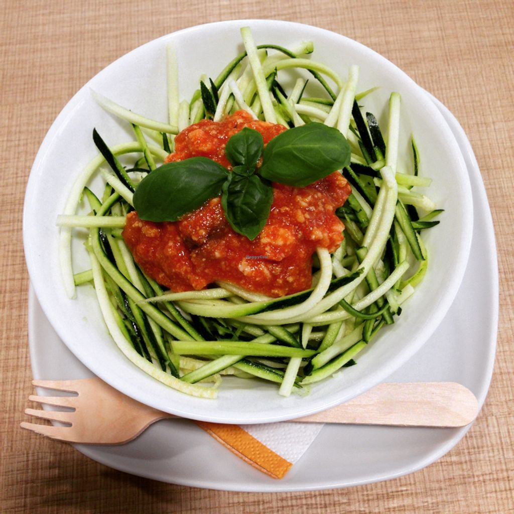 "Photo of La Margherita  by <a href=""/members/profile/BELADINO"">BELADINO</a> <br/>spaghetti di zucchine al sugo di melanzane e vegan Calais affumicato  <br/> September 4, 2015  - <a href='/contact/abuse/image/60364/116404'>Report</a>"