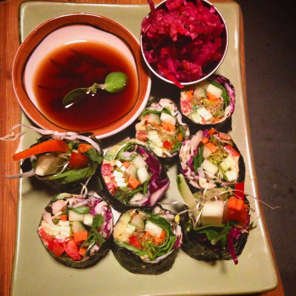 """Photo of CLOSED: Real Food  by <a href=""""/members/profile/Brian%20Flanagan"""">Brian Flanagan</a> <br/>Vegetable nori roll <br/> July 8, 2015  - <a href='/contact/abuse/image/60372/108616'>Report</a>"""