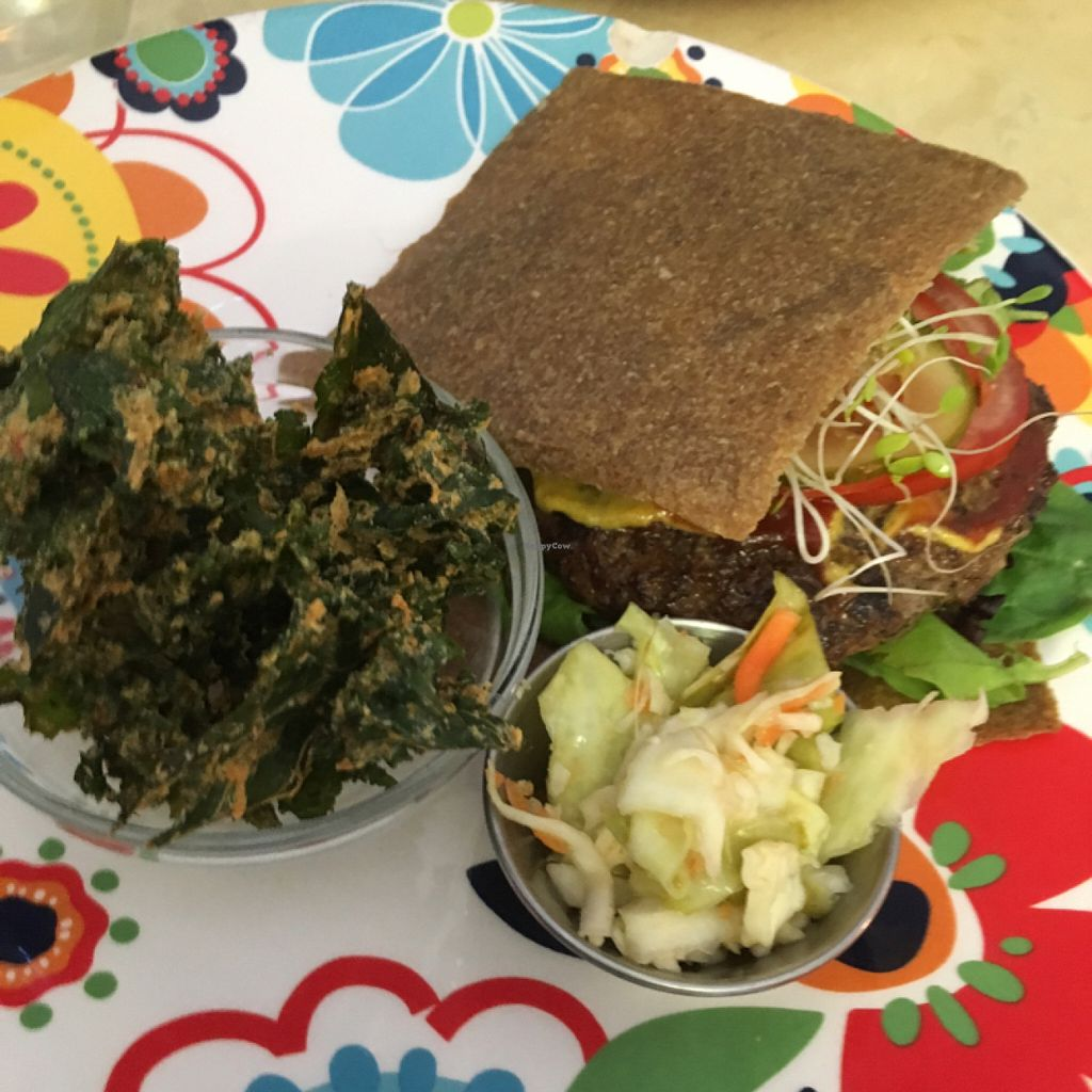 """Photo of CLOSED: Real Food  by <a href=""""/members/profile/DelaneyClark"""">DelaneyClark</a> <br/>meat burger with gluten free bun <br/> July 11, 2016  - <a href='/contact/abuse/image/60372/159260'>Report</a>"""