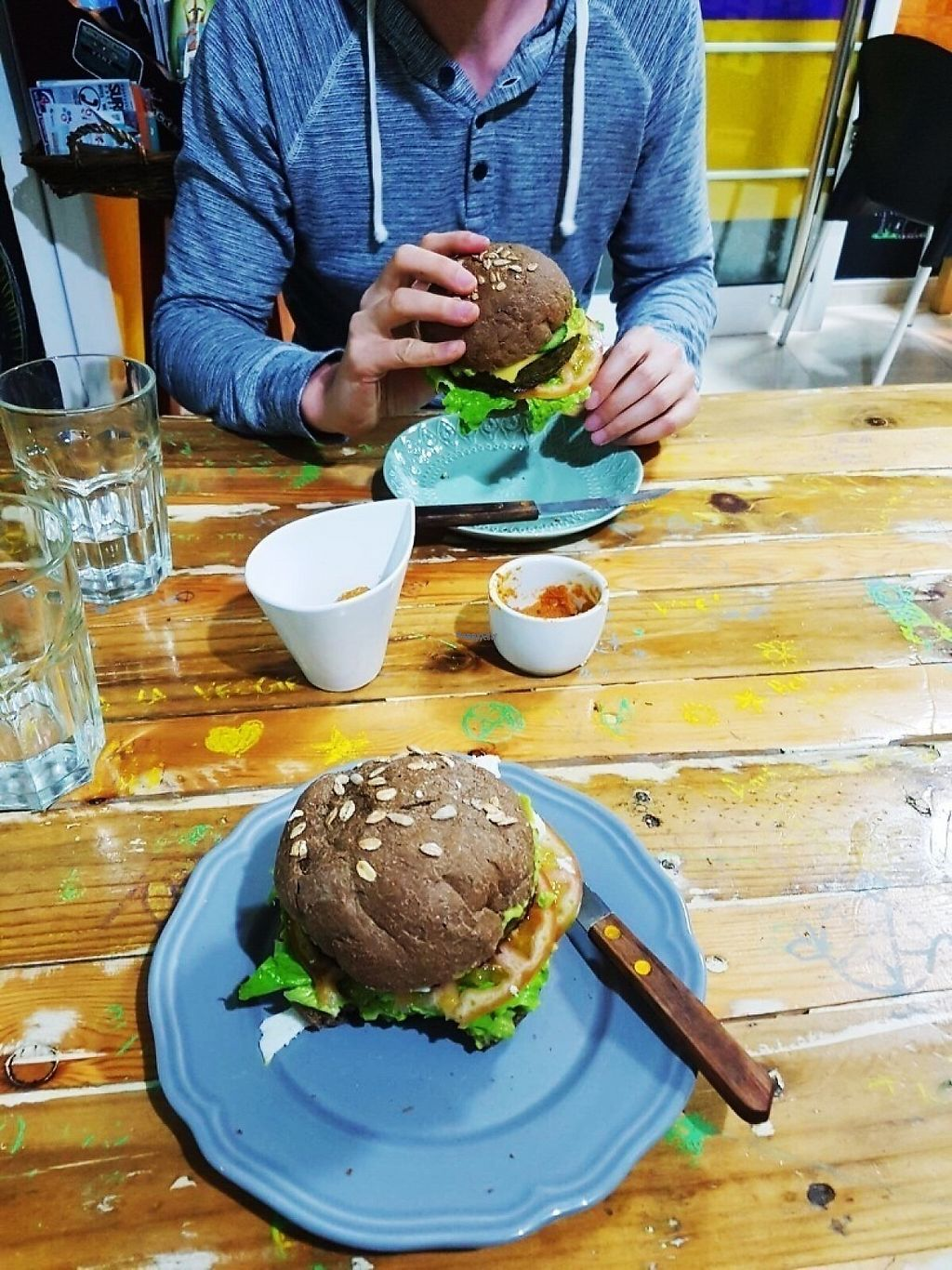 """Photo of D.Sanchez Fresh Food  by <a href=""""/members/profile/IsabelSalo"""">IsabelSalo</a> <br/>Customized broccoli burgers <br/> April 26, 2017  - <a href='/contact/abuse/image/60375/252710'>Report</a>"""