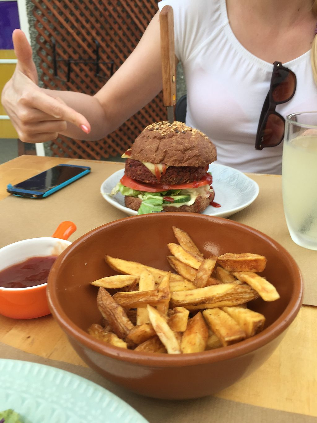 """Photo of D.Sanchez Fresh Food  by <a href=""""/members/profile/Loviedovie"""">Loviedovie</a> <br/>quinoa-patty burger <br/> July 20, 2017  - <a href='/contact/abuse/image/60375/282406'>Report</a>"""