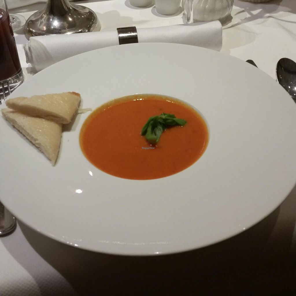 "Photo of Holiday Inn Unterhaching  by <a href=""/members/profile/PetraBuhr"">PetraBuhr</a> <br/>Creamy tomato soup with croutons  <br/> July 9, 2015  - <a href='/contact/abuse/image/60384/108731'>Report</a>"