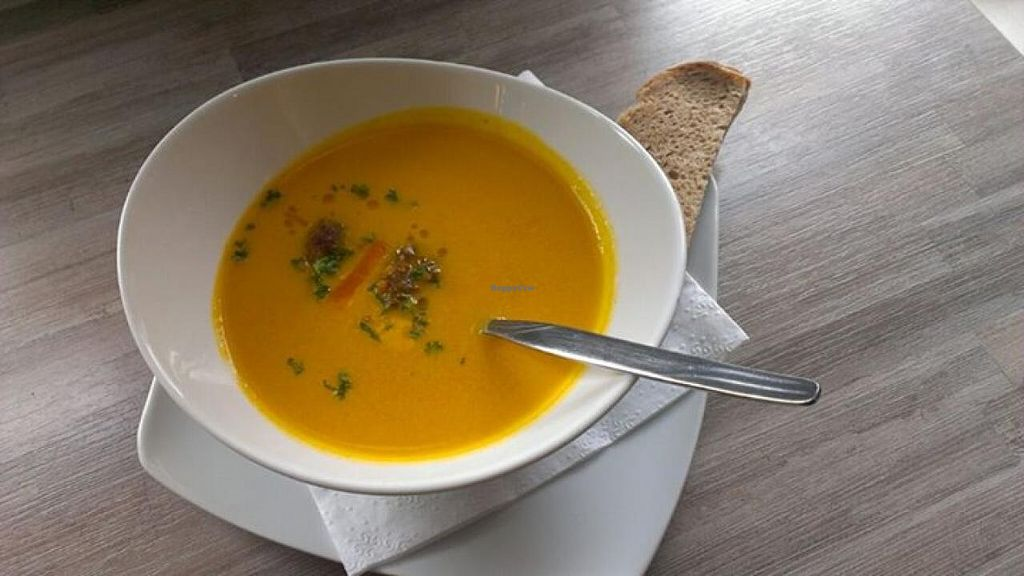 "Photo of Wurstgalerie  by <a href=""/members/profile/community"">community</a> <br/>pumpkin soup  <br/> July 19, 2015  - <a href='/contact/abuse/image/60394/109976'>Report</a>"
