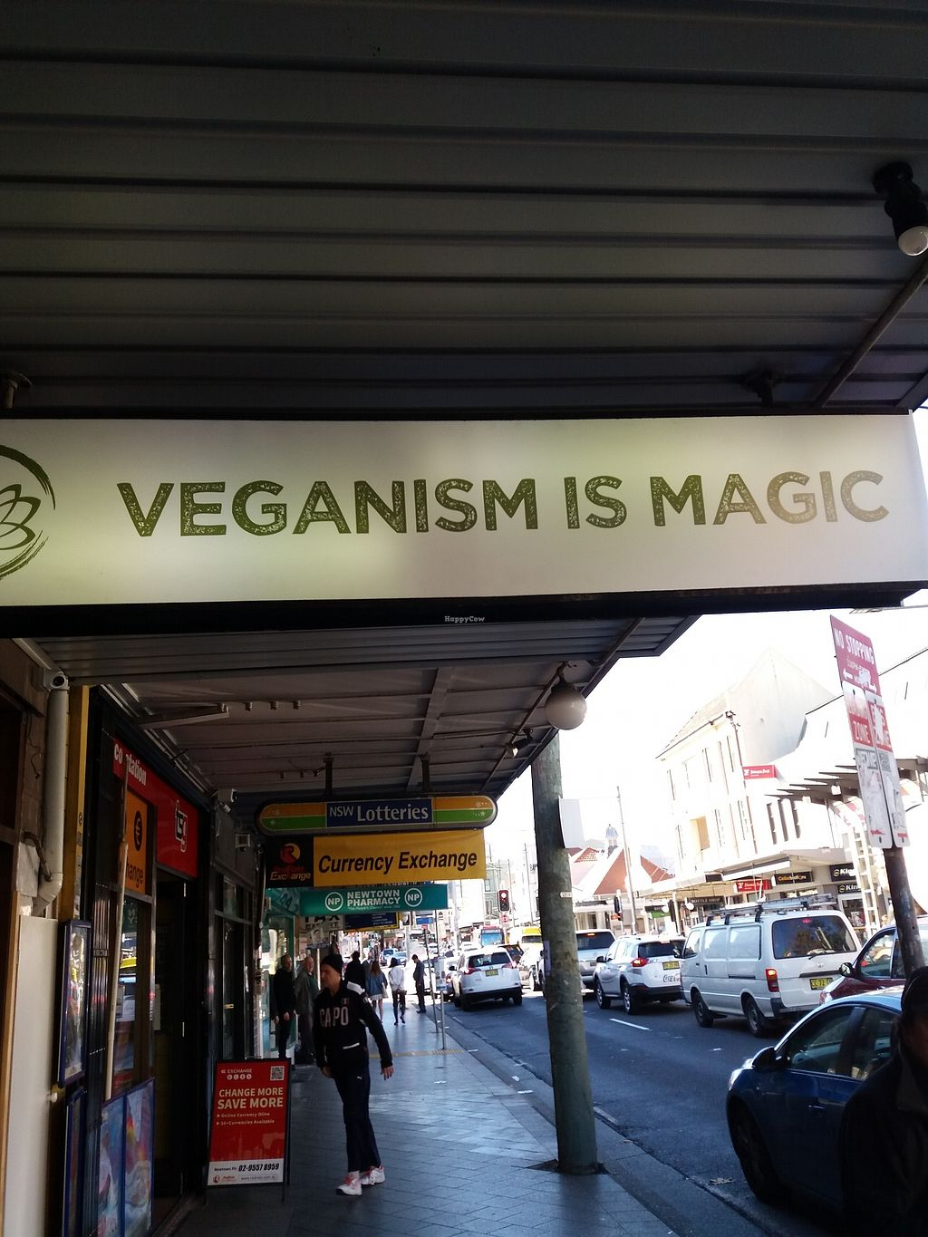 """Photo of Golden Lotus Vegan  by <a href=""""/members/profile/veganvirtues"""">veganvirtues</a> <br/>Outside door signage Great <br/> July 7, 2017  - <a href='/contact/abuse/image/60395/277366'>Report</a>"""