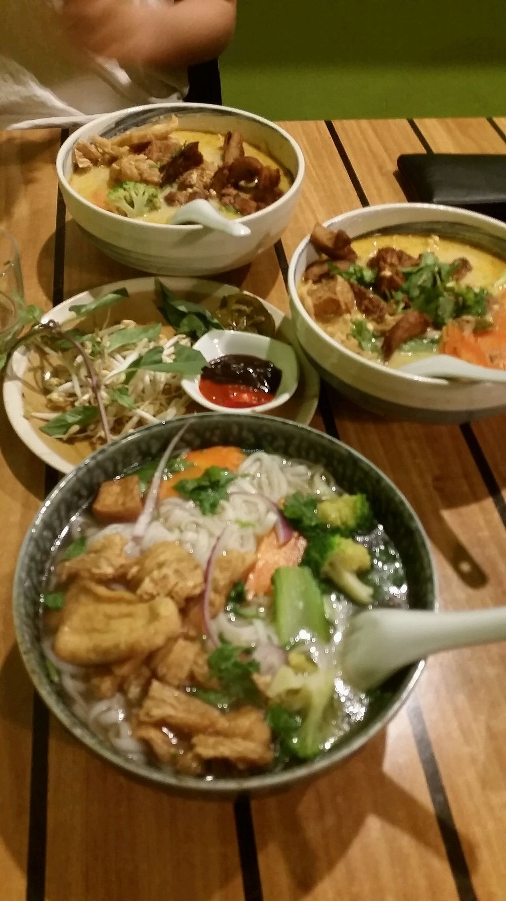 """Photo of Golden Lotus Vegan  by <a href=""""/members/profile/JulianaMurace"""">JulianaMurace</a> <br/>tofu pho and laksa (spicy!) <br/> August 26, 2017  - <a href='/contact/abuse/image/60395/297332'>Report</a>"""