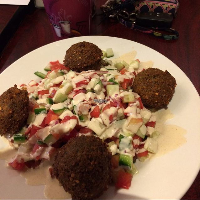 """Photo of Angel's Cafe  by <a href=""""/members/profile/trisangelina"""">trisangelina</a> <br/>the falafel salad <br/> October 21, 2016  - <a href='/contact/abuse/image/60407/183457'>Report</a>"""