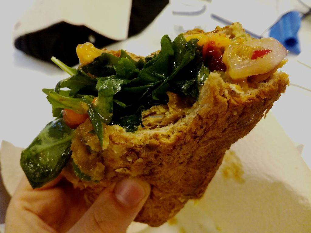 "Photo of Coco's Corner Shop  by <a href=""/members/profile/happyowl"">happyowl</a> <br/>Vegan sub. Bad picture but damn tasty! <br/> September 2, 2017  - <a href='/contact/abuse/image/60408/300197'>Report</a>"