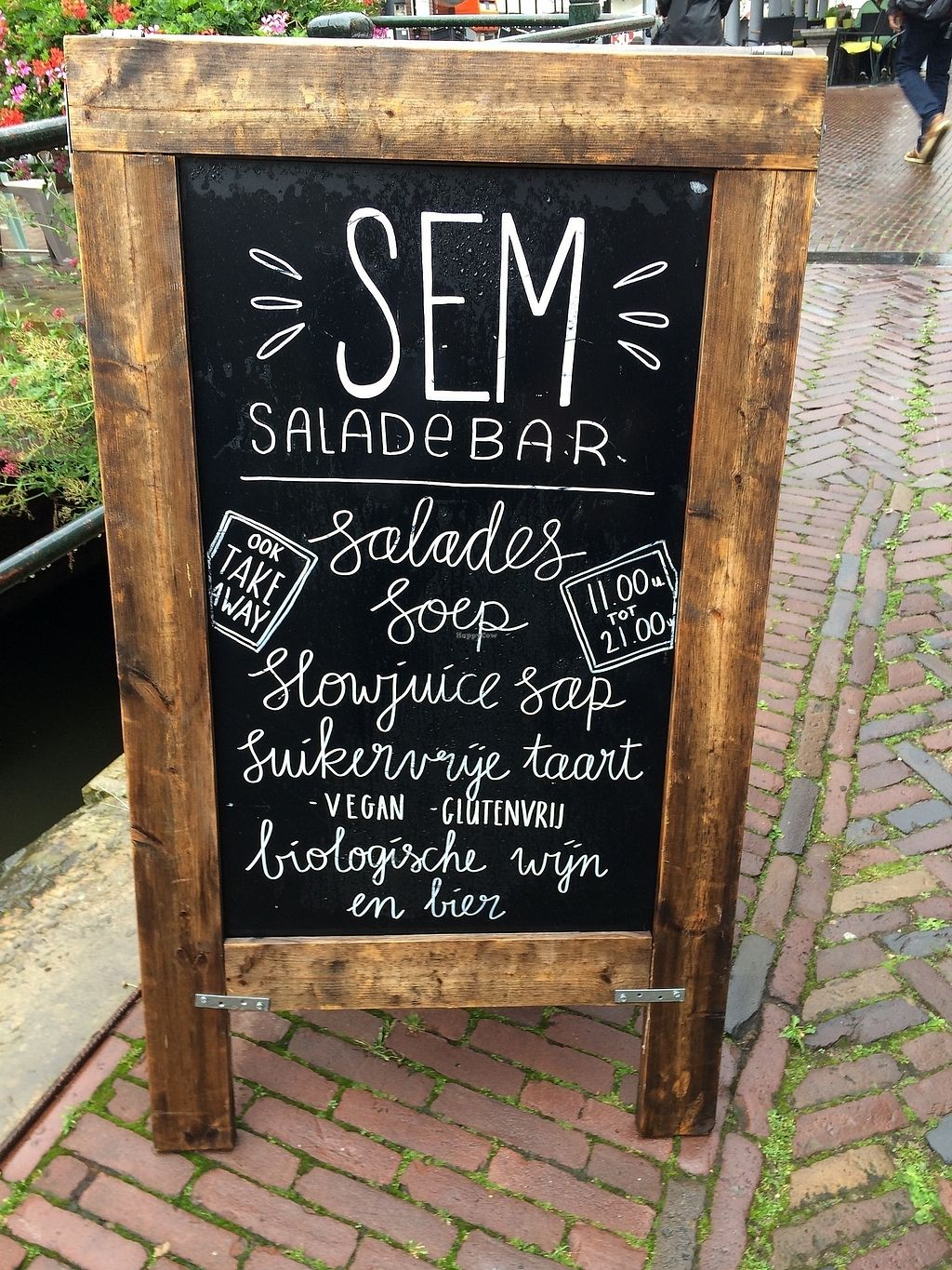 """Photo of SEM Sla En Meer  by <a href=""""/members/profile/Mawu"""">Mawu</a> <br/>Salads- choose from menu or compose your own, Soups, delicious cakes, very good smooth  coffee!  <br/> August 1, 2017  - <a href='/contact/abuse/image/60425/287759'>Report</a>"""