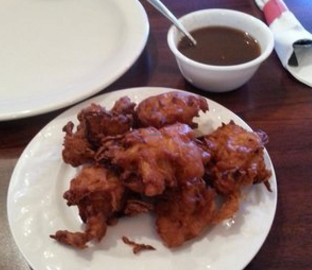 """Photo of Taj Tandoor  by <a href=""""/members/profile/effinloaves"""">effinloaves</a> <br/>Onion pakoras <br/> July 14, 2015  - <a href='/contact/abuse/image/60431/209425'>Report</a>"""