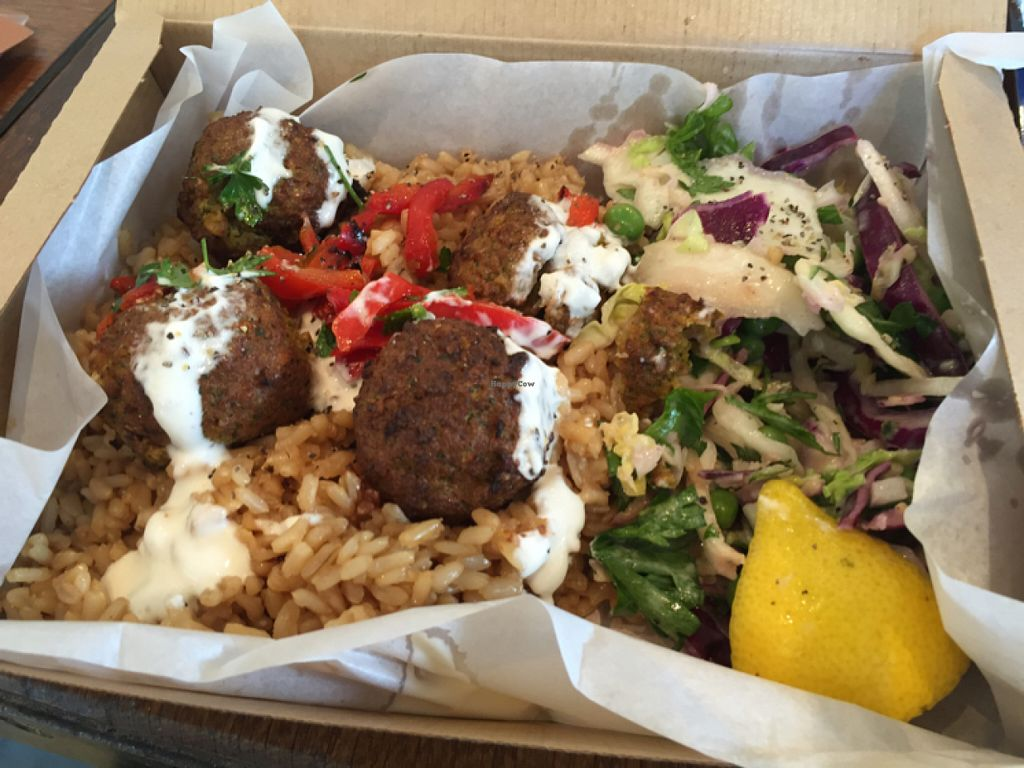 "Photo of LEON - Bankside  by <a href=""/members/profile/MariaBorgensgaard"">MariaBorgensgaard</a> <br/>falafel box  <br/> June 24, 2016  - <a href='/contact/abuse/image/60436/155908'>Report</a>"