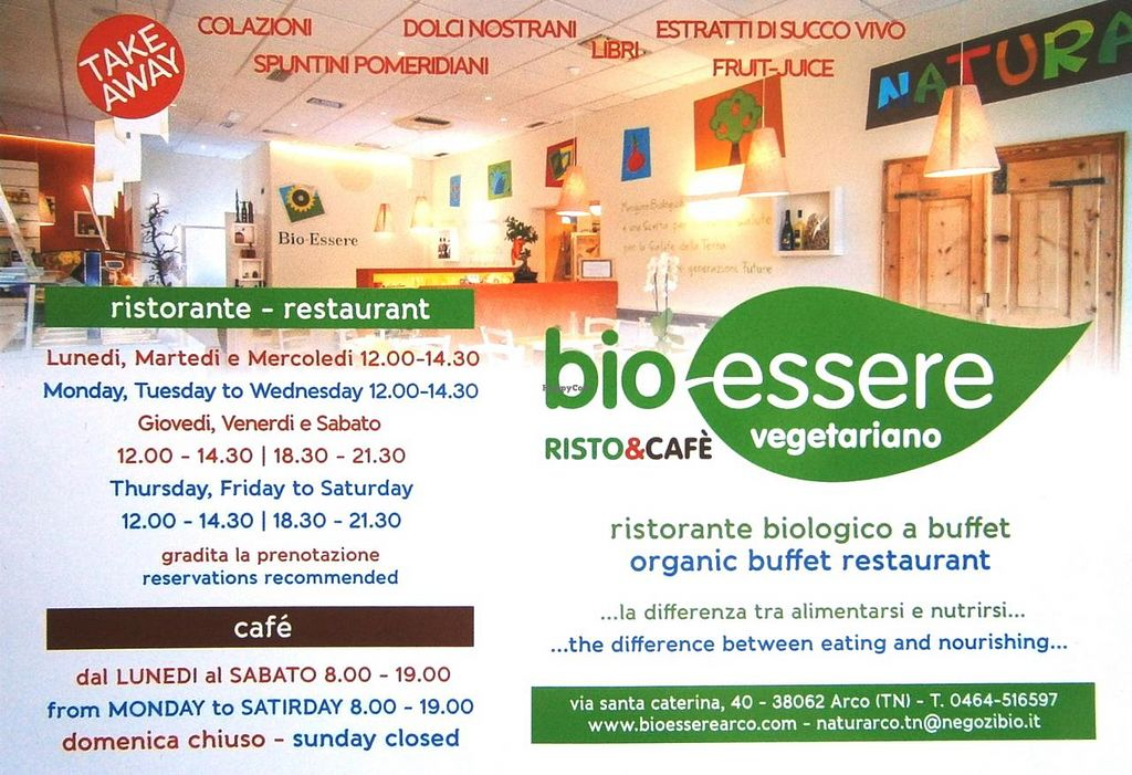 """Photo of Bio Essere  by <a href=""""/members/profile/papanda"""">papanda</a> <br/>Restaurant flyer <br/> July 10, 2015  - <a href='/contact/abuse/image/60440/108787'>Report</a>"""