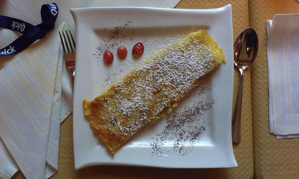 """Photo of Gasthof Riedl-Schoener  by <a href=""""/members/profile/christa.fleck"""">christa.fleck</a> <br/>pancakes with apricot marmalade <br/> December 5, 2015  - <a href='/contact/abuse/image/60452/127247'>Report</a>"""
