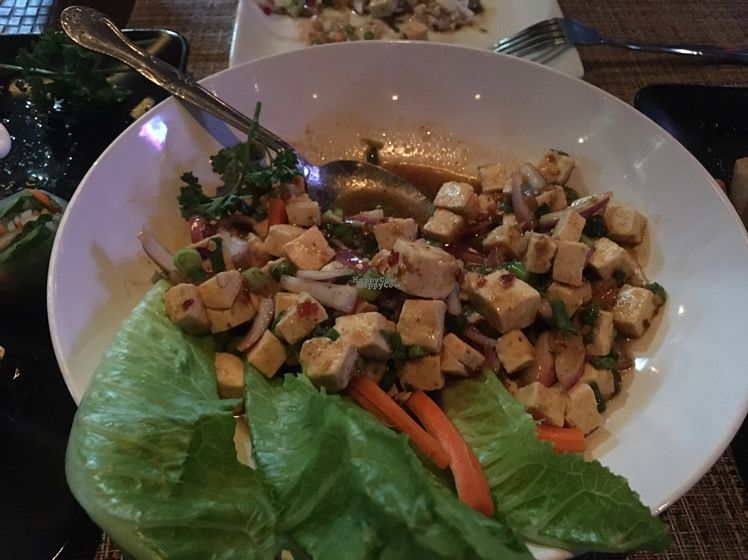 """Photo of Table Thai Bar & Bistro  by <a href=""""/members/profile/Charmingdaisy"""">Charmingdaisy</a> <br/>(half eaten) Larb tofu <br/> October 17, 2016  - <a href='/contact/abuse/image/60456/182578'>Report</a>"""