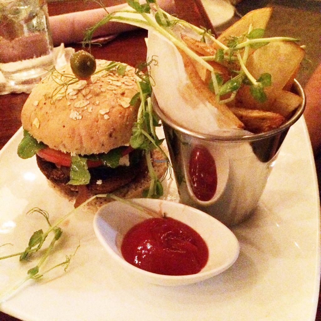 "Photo of Green Room Cafe  by <a href=""/members/profile/KatieBush"">KatieBush</a> <br/>vegetarian falafel burger (has feta) <br/> April 24, 2017  - <a href='/contact/abuse/image/60459/251962'>Report</a>"