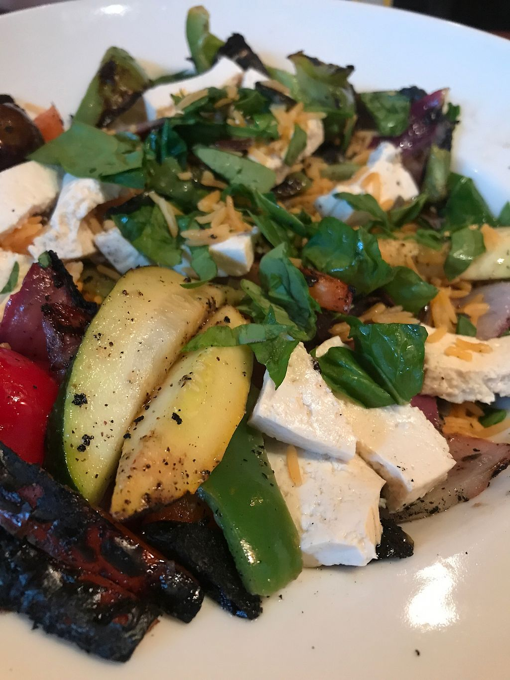 """Photo of Fitness Grill  by <a href=""""/members/profile/sjberrest"""">sjberrest</a> <br/>Grilled Veggie Plate w Rice and Smoked Tofu <br/> July 1, 2017  - <a href='/contact/abuse/image/60466/275440'>Report</a>"""