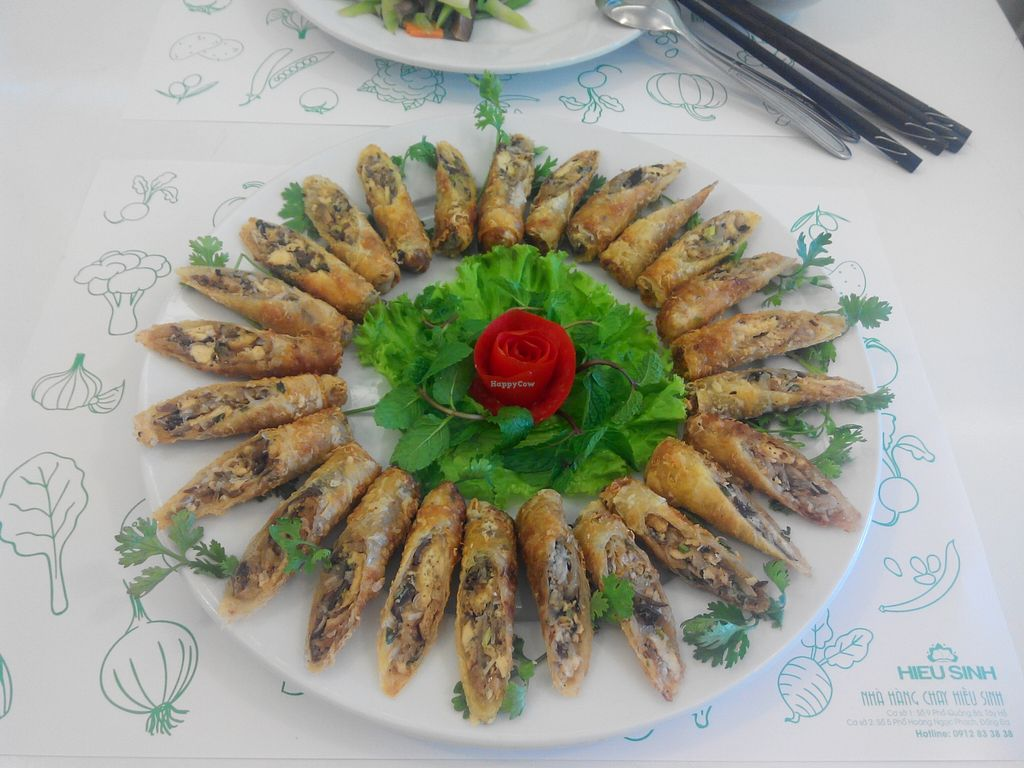 """Photo of Hieu Sinh Vegetarian Restaurant  by <a href=""""/members/profile/minhhieusinh"""">minhhieusinh</a> <br/>Hieusinh Mushroom Spring roll <br/> October 16, 2015  - <a href='/contact/abuse/image/60469/121447'>Report</a>"""