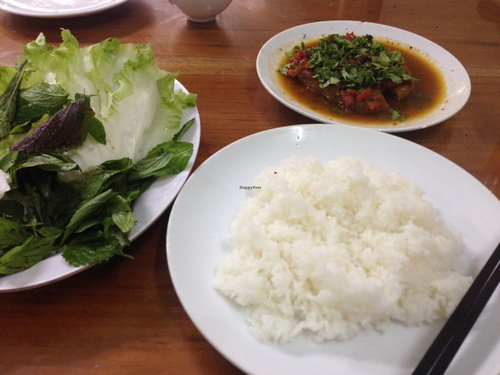 """Photo of Dai Loc  by <a href=""""/members/profile/Sarahmrussell"""">Sarahmrussell</a> <br/>braised tofu dish over thur. probs my favourite style dish I've had in Vietnam  <br/> August 3, 2015  - <a href='/contact/abuse/image/60492/112095'>Report</a>"""