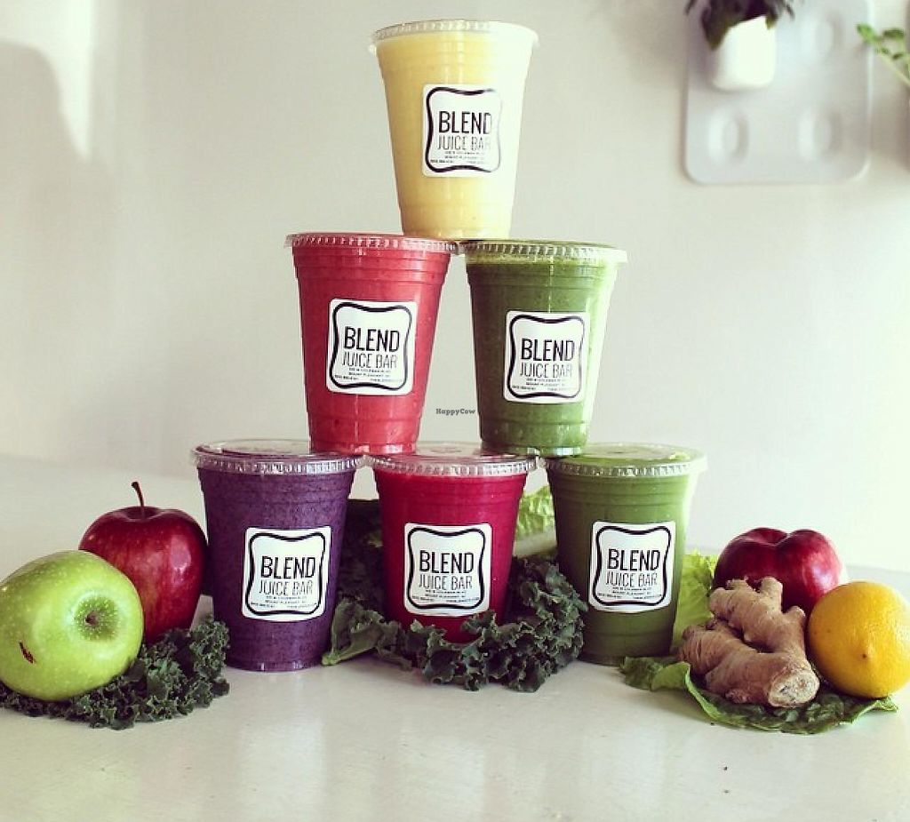 """Photo of Blend Juice Bar  by <a href=""""/members/profile/community"""">community</a> <br/>smoothies  <br/> July 21, 2015  - <a href='/contact/abuse/image/60500/224353'>Report</a>"""