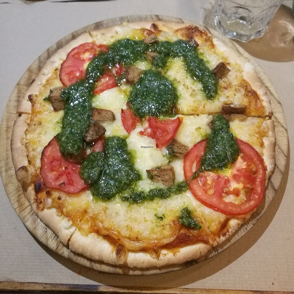 """Photo of Vegetalia - Born  by <a href=""""/members/profile/Kaisa"""">Kaisa</a> <br/>Caprichosa pizza with vegan cheese <br/> October 1, 2017  - <a href='/contact/abuse/image/60646/310605'>Report</a>"""