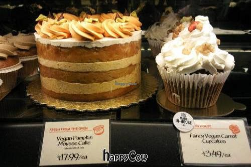 """Photo of Whole Foods Market  by <a href=""""/members/profile/happycowgirl"""">happycowgirl</a> <br/>vegan pumpkin mousse cake <br/> October 28, 2012  - <a href='/contact/abuse/image/6064/39541'>Report</a>"""