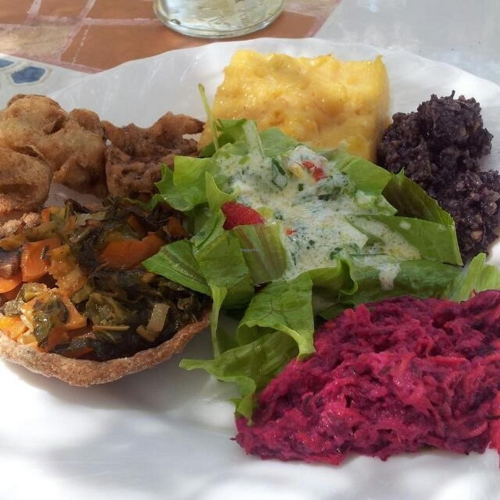 """Photo of Omedetto Macrobiotic Center  by <a href=""""/members/profile/ClareMacro"""">ClareMacro</a> <br/>An example of a tasty plate served @ Omedetto!  <br/> July 15, 2015  - <a href='/contact/abuse/image/60653/109504'>Report</a>"""