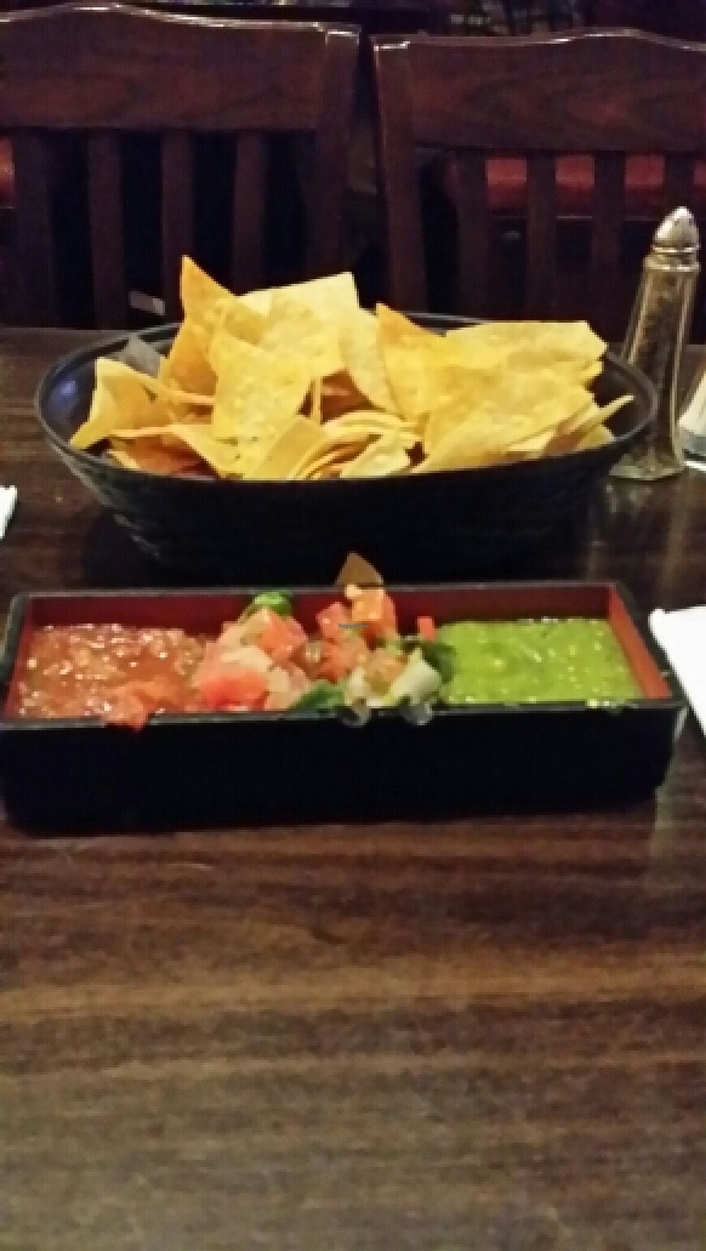 """Photo of Camino Real Kitchen and Tequila  by <a href=""""/members/profile/catbone"""">catbone</a> <br/>House-Hade Chips&Tri-Salsa Display! <br/> February 15, 2016  - <a href='/contact/abuse/image/60663/136450'>Report</a>"""