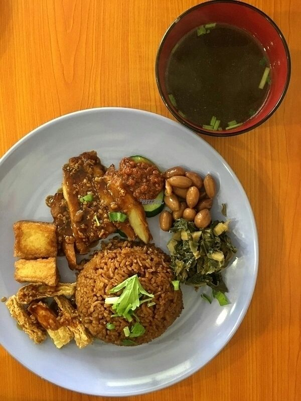 """Photo of Xiu Yuan Vegetarian Eating House  by <a href=""""/members/profile/Danielchai"""">Danielchai</a> <br/>vegetarian braised duck rice <br/> October 12, 2016  - <a href='/contact/abuse/image/60707/181530'>Report</a>"""