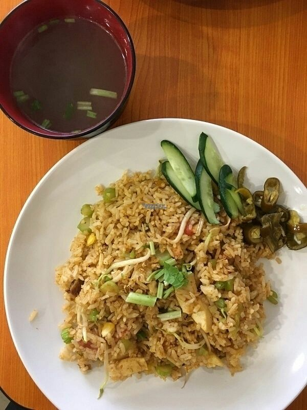 """Photo of Xiu Yuan Vegetarian Eating House  by <a href=""""/members/profile/Danielchai"""">Danielchai</a> <br/>Tom yum fried rice <br/> October 12, 2016  - <a href='/contact/abuse/image/60707/181531'>Report</a>"""