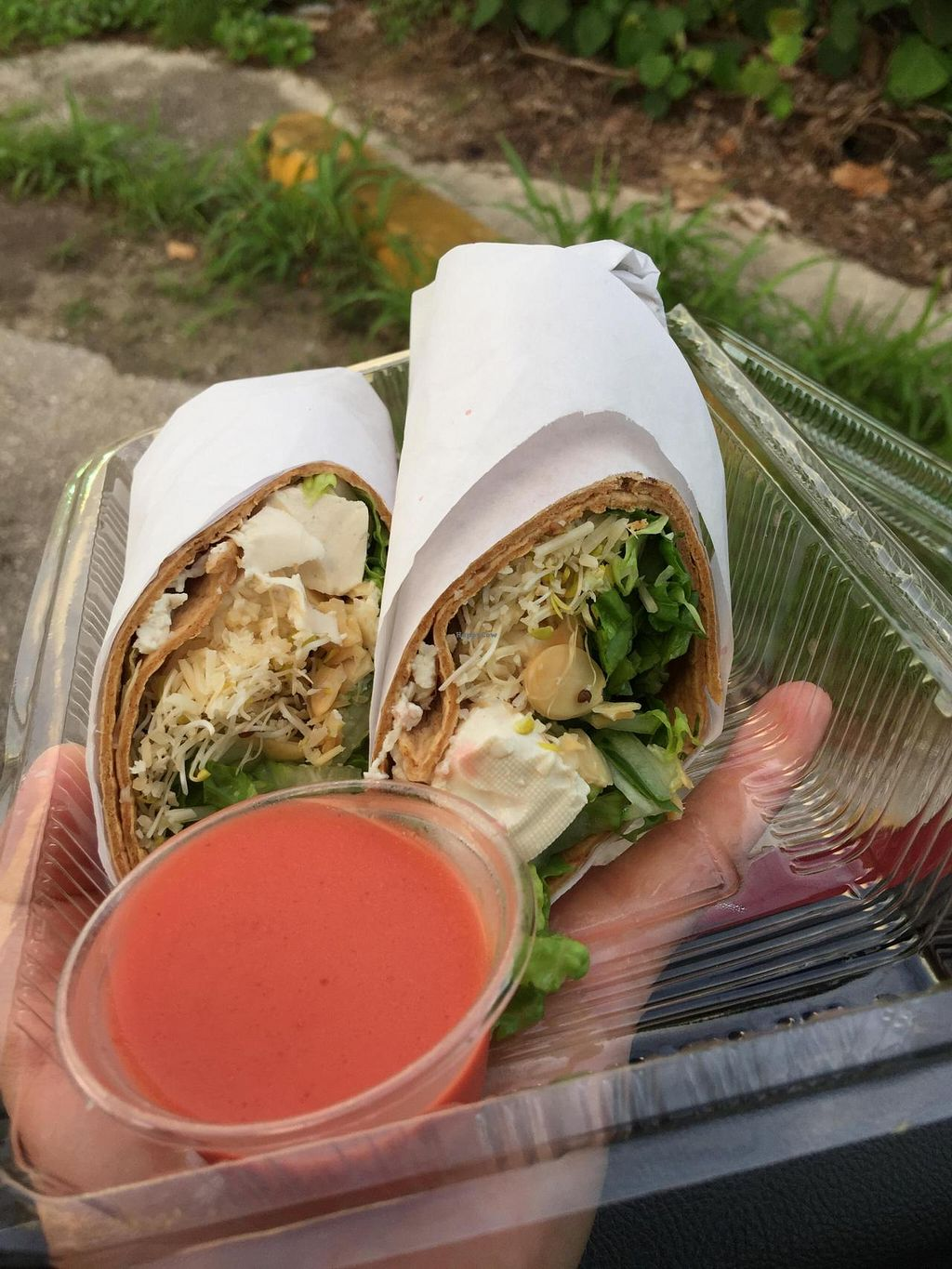 """Photo of CLOSED: The Urban Fork  by <a href=""""/members/profile/JoannaBanana47"""">JoannaBanana47</a> <br/>Tofu salad wrap! Sub cheese to make it vegan! <br/> July 19, 2015  - <a href='/contact/abuse/image/60712/109951'>Report</a>"""