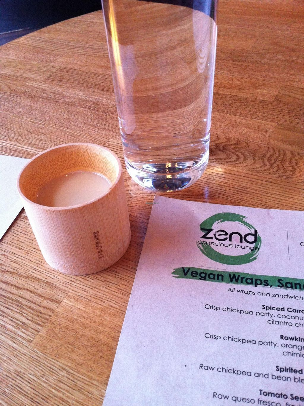 "Photo of Zend Conscious Lounge  by <a href=""/members/profile/vegan%20frog"">vegan frog</a> <br/>Zend signature drink <br/> August 22, 2015  - <a href='/contact/abuse/image/60722/114755'>Report</a>"